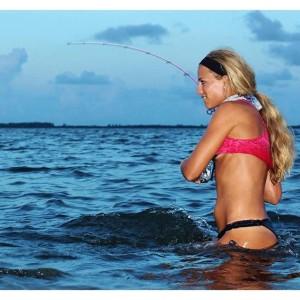 Darcie Arahill, fishing