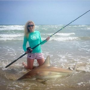 beach fishing for sharks